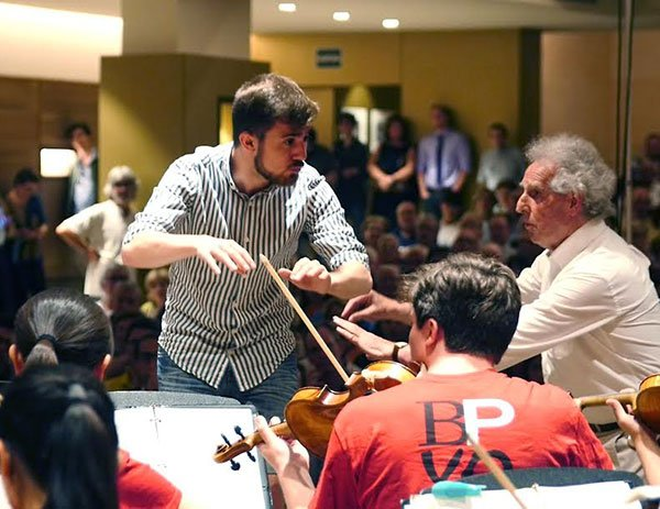 Ben Zander leads conducting masterclass in Barcelona