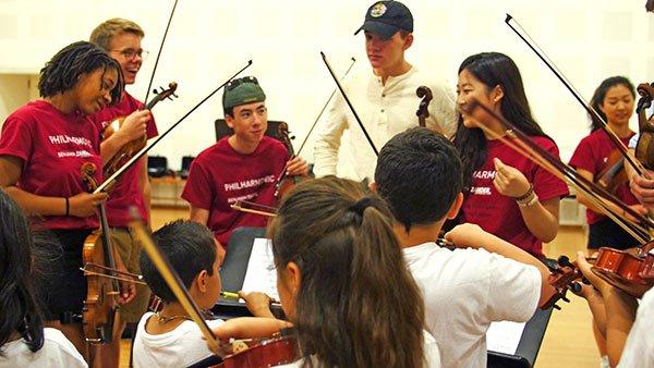 BPYO players working with In Crescendo students