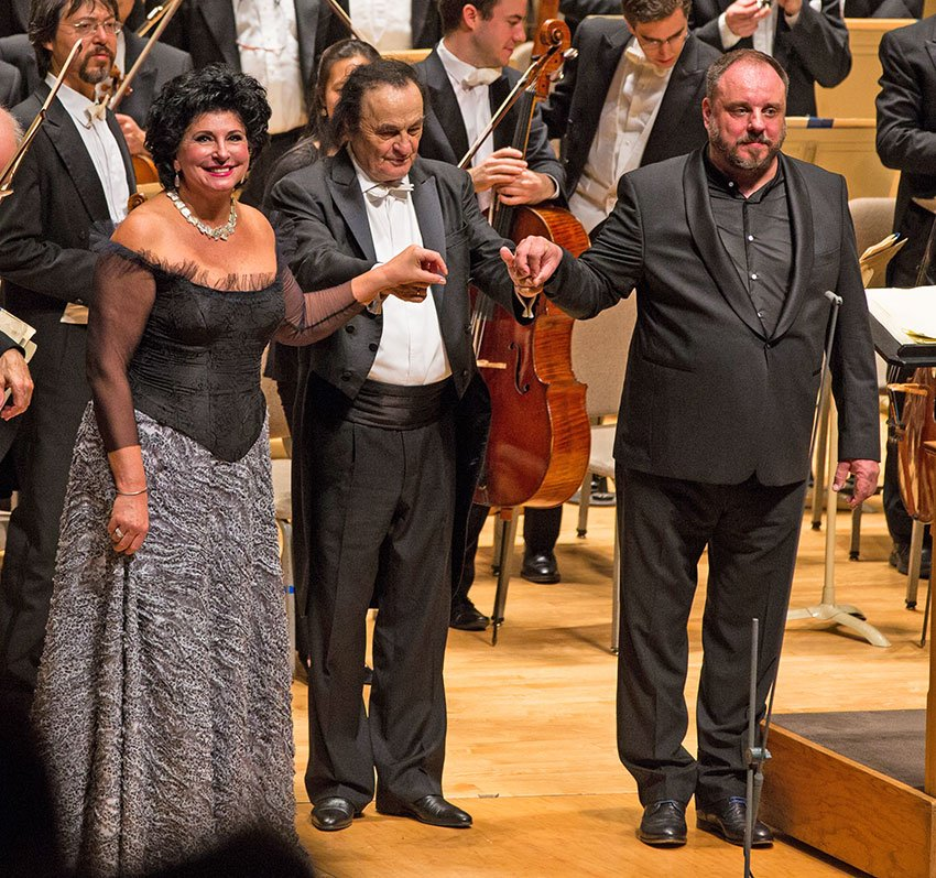 Lildiko Komlosi, Charles Dutoit, and Matthias Goerne (Robert Torres photo)