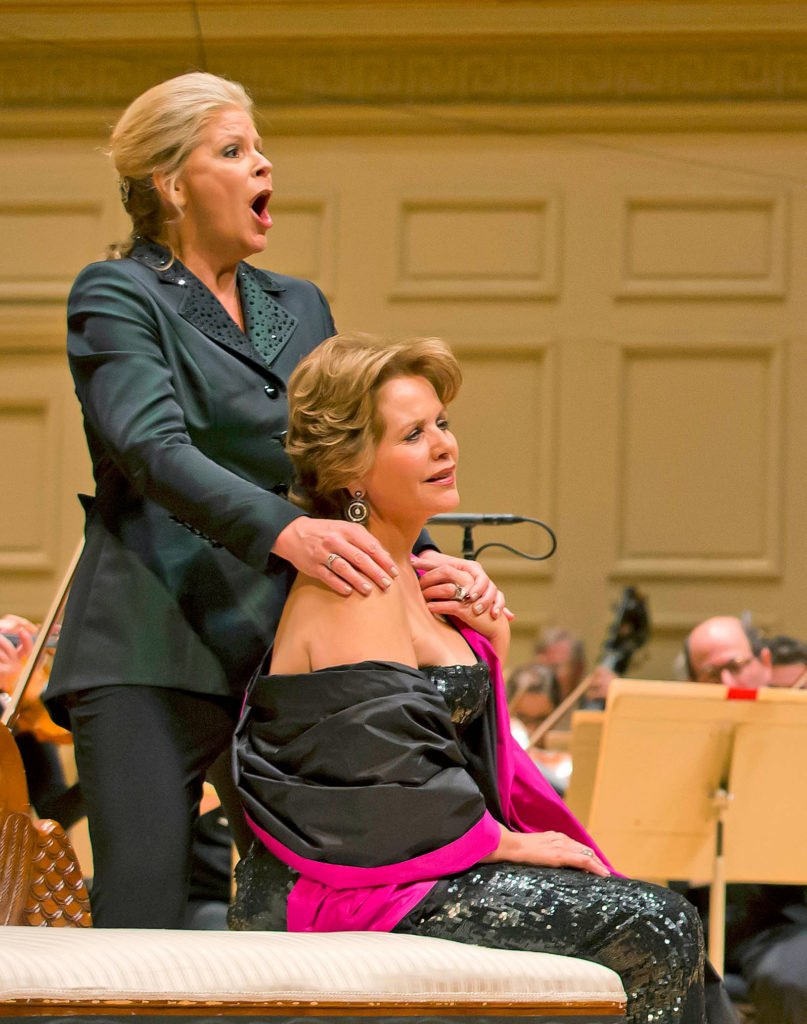 Susan Graham and Renee Fleming (Winslow Townson photo)
