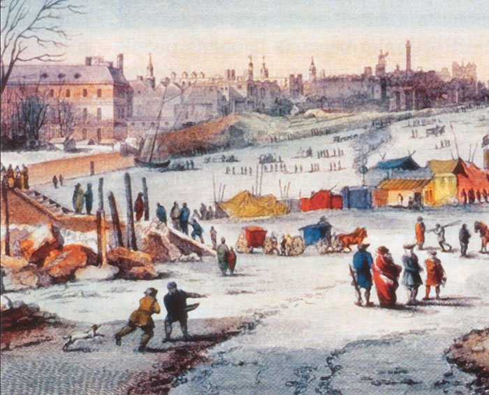 Detail from Thames Frost Fair  by Thomas Wyke
