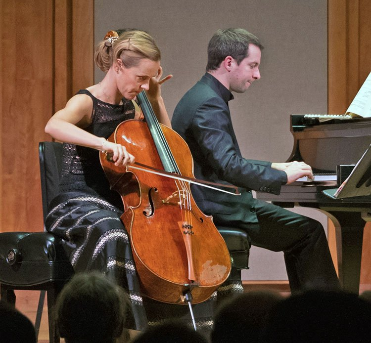 Sol Gabetta and Bertrand Chamayou (Robert Torres photo)