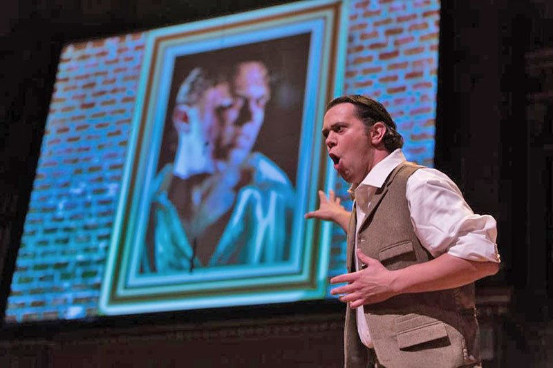 Jon Jurgens as Dorian Gray (Kathy Wittman photo)