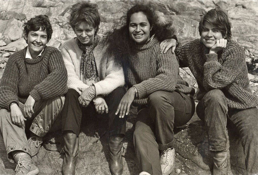 Rhonda Rider, the late Mary Ruth Ray, Wilma Smith and Judith Eisenberg in 1980